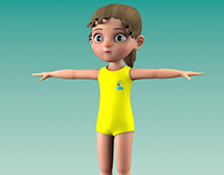 3d Girl Rig and Animation