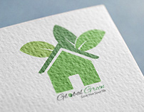 Global green logo For a local Organization
