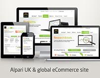 Alpari UK & global eCommerce site UX/UI and Direction