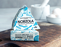 Redesign of the classic blue cheese Norzola® from TINE.