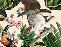 Fauna and flora print