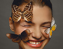 'BUTTERFLY' beauty editorial