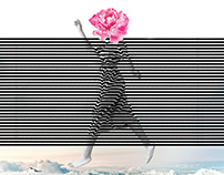 "conceptual collage series ""stripes"""