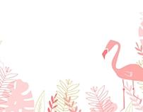 Flamingle Birthday Invitation