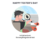 Tester's Day Card (social media art)