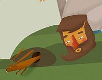 """"""" El hombre del bosque"""". ilustración."""