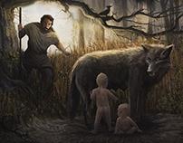 Romulus & Remus - documentary series illustration