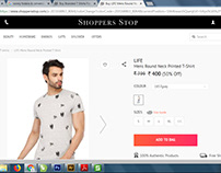 MY DESIGN - Skull Aop Sale in Shoppers Stop Website