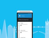 NextStop App - Material Design