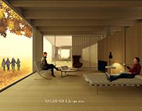 Casa en otoño - interior