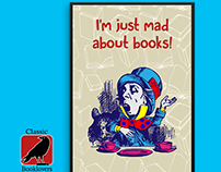 Just Mad About Books poster for ClassicBooklovers.com