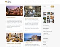 Blog Masonry Right Sidebar - Hotel WordPress Theme