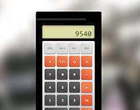 Retro Calculator Concept Design
