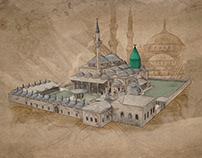 Mosque Draw • Illustration • Konya Mevlana
