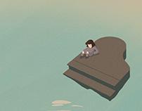 Animation / Žmogus ant fortepijono