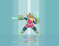 Mega Man Tribute - #pixelart