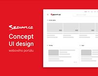 UI concept webdesign - Seznam.cz