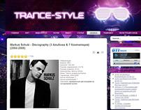 Самый первый проект. trance-style.com