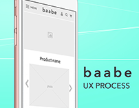 baabe — website UX process