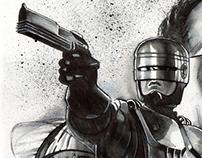 Robocop ink poster