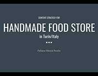 Online Content Strategy for a real Handmade Food Store