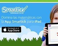 Web e imagenes promocionales para app Smartick