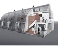 1506 Passive-active solar housing