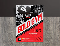 Free Gym Body Training / Fitness Flyer Design Template