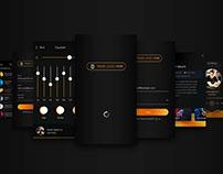iOS Music App UI Kit - Free PSD
