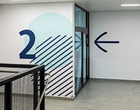 Wayfinding system in Gemini Park Tychy mall