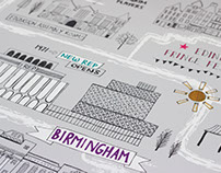 Birmingham Repertory Theatre — Illustrated Map