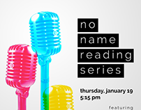 No Name Reading Series posters