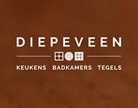 Logo en huisstijl Diepeveen Keukens, Badkamers & Tegels