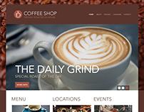 Coffee Shop Website Template