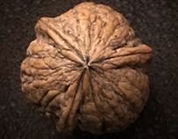 three-piece walnut