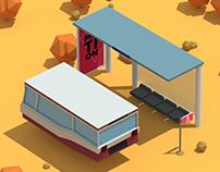 Desert Bus Stop