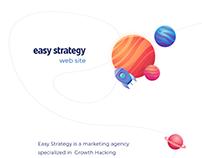 Marketing Agency UI UX | Easy Strategy Website