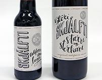 Ölvisholt Brewery labels for Skjálfti