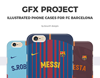 GFX Project - Phone cases for FC Barcelona