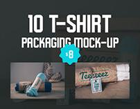 10 T-shirt packaging mock-ups