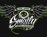 Smaily · Airbrush & Pinstriping · Logo