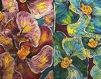 Floral Silk Scarves
