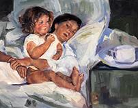 Master Copy of Mary Cassatt - Breakfast in Bed