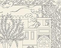 Ottoman Miniature Design Adult Coloring Book