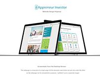 Appreneur Investor website design proposal