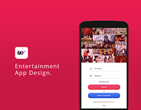 Entertainment App Design