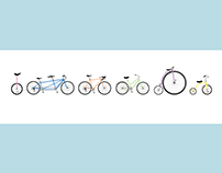"""Bikes Together!"" Limited Edition Panorama Screenprint"