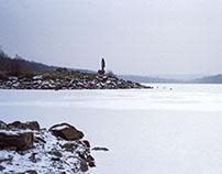European winter road trip on film
