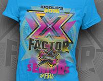 X FACTOR-Cheer Factor Allstars Worlds 2016 Tshirt