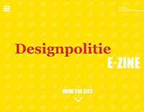 "Wireframing for editorial website ""Designpolitie"""